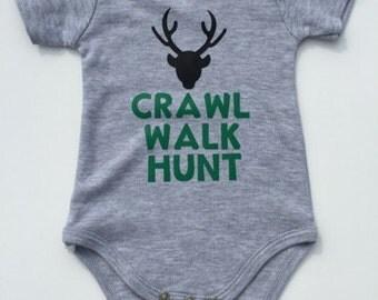 Hunting baby onesie