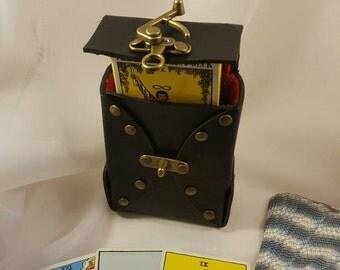 Villafani Handmade Leather Tarot Box
