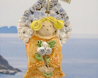 Angel, pottery angel, angel décor, ceramic angel