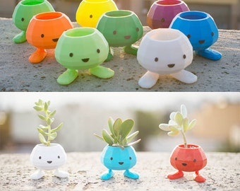 Oddish Planter, Pokemon, july 4th, oddish, 3D Printed Planter, Pocket Animal,Adorable, cute, monster, geekery, Pikachu