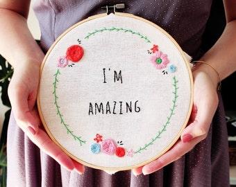 Embroidery Kit, DIY Kit, Cross Stitch Kit, Modern Cross Stitch, Floral Cross Stitch, Needlepoint Kit, Craft Kit, Embroidery Pattern