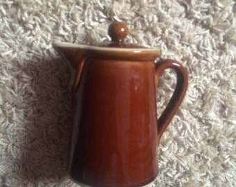 Lovely Vintage Denby Stoneware Brown Glazed Coffee Pot!