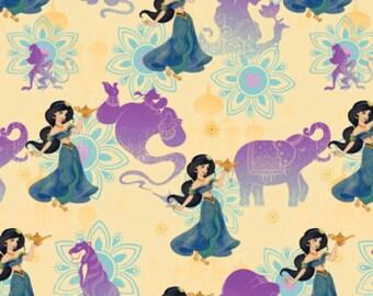 PRECUT- Disney Aladdin Jasmine Genie and Lamp Fabric Springs Creative (3R)