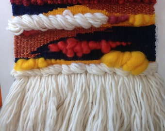 Sunset hand woven wall hanging