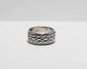 Sliver Spinner Band Ring Size 7