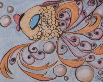 """Pastel Chalk Drawing """"Faleena"""""""