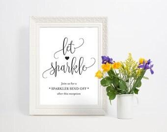 Sparkler Sendoff Sign, Let Love Shine Sign, Sparkler Sign, Let Love Shine Sign, Sparkler Send Off, Wedding Sparkler Tags