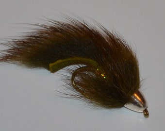 Barr's Olive Slumpbuster, Handmade flies, Trout flies, Streamers, Fly fishing, Flies