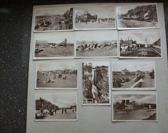 Rhyl Vintage Postcards from 1917, set of 11