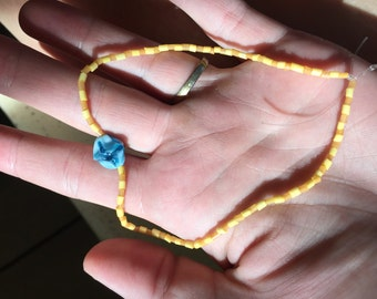 Yellow and blue Anklet