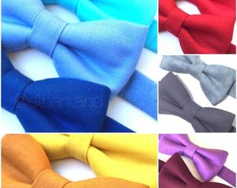 Solid color bow tie