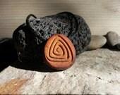 Spyramide... / Inspirales / avocado pit necklace