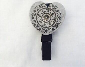 Mandala heart peg