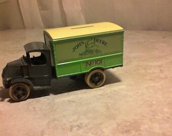 Vintage ERTL John Deere Tractor Bank