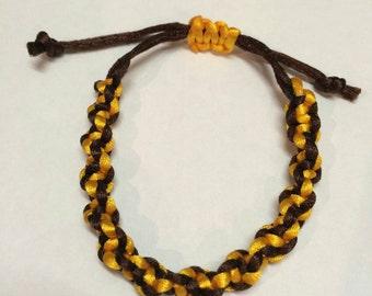 Macrame bumble bee bracelet