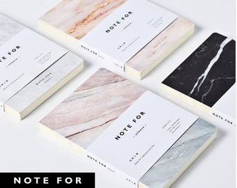 Japanese 'Note for Silence' Marble Designs A5 Blank Pages Notebook