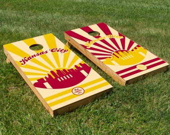 Kansas City Chiefs Cornhole Board Set