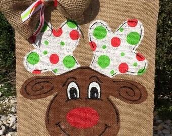 Christmas Garden Flag, Reindeer