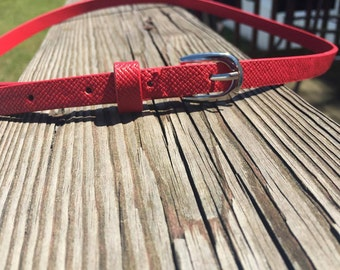 Red Thin Belt