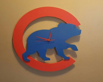 Chicago Cubs Clock hand made