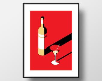 Vodka Martini - Giclee Art Print