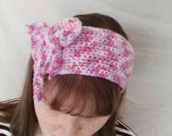 Pink Variegated crochet headband/headwarmer