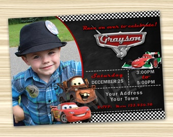 Cars Invitation. Cars Party Invitation. Diy Cars Birthday Party. Cars Printable. Lightning McQueen Invitation. DIGITAL FILE.