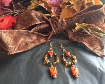 Lampworked Bead Earrings