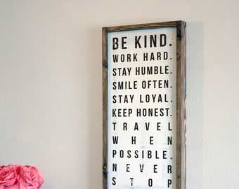 Be Kind Family Rules Etsy