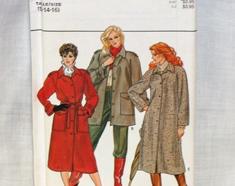Butterick 4507 Trench Coat Jacket with belt by PeoplePackages