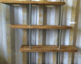 Reclaimed Handmade 4 Tier Bespoke Shelving Unit Wood and Steel