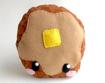 Pancake plushie, pillow, cushion, stuffed toy, stuffed pancake, breakfast toy, Kawaii plush, food toy,
