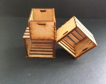 Miniature crates / dollhouse crates