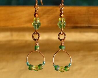 Dakini Dangle Earrings - Tropical Green