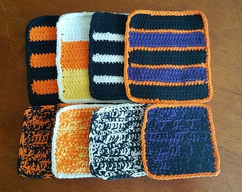 Halloween Themed Crocheted Dish Rag & Scrubber Set