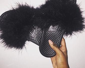 Fur Slides Etsy