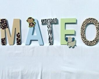 Jungle/safari name wall hanging