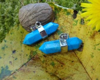 Blue howlite pendant