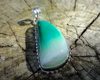 "promo 20% pendant ""agate collection"" green, Silver 925"