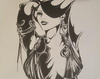 Fantasy Woman Original NOT A PRINT