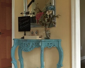 Refinished Antique Foyer Entryway Sofa Table