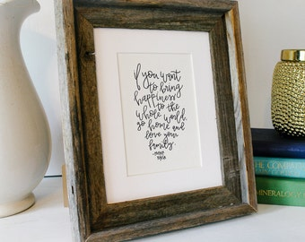 Handwritten Mother Teresa Quote