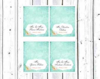 Placecards for Wedding or Engagement party