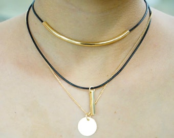 Triple Gold Necklace