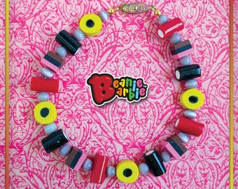 Liquorice allsorts Polymer clay anklet