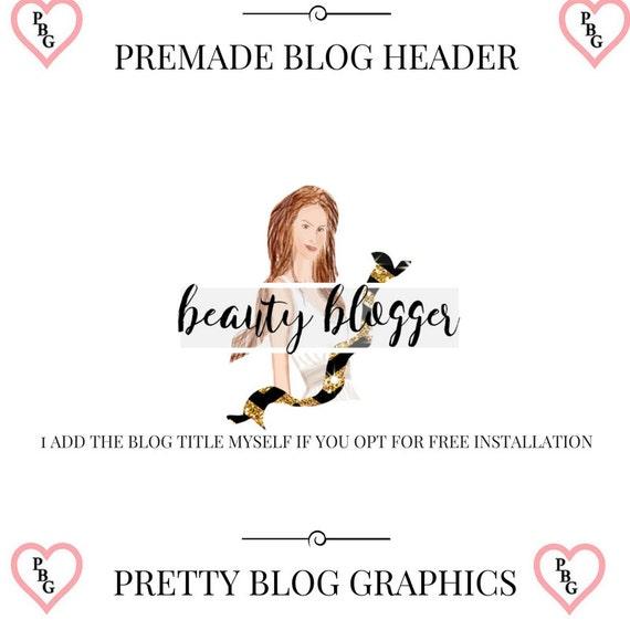 Beauty and Fashion Premade Blog Header