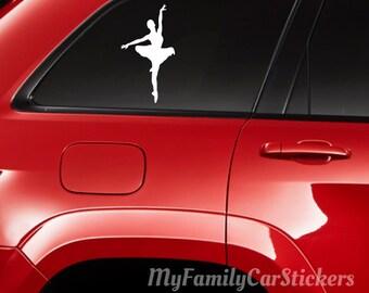 Ballet Dancer Decal Vinyl Ballet Dancer Car Sticker Custom