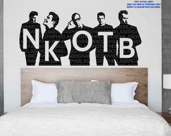 New Kids on the Block Wall Decal - Blockheads Room Decor - DRAWN and DESIGNED by US