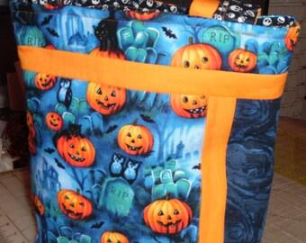 Halloween Trick or Treat Tote - Graveyard