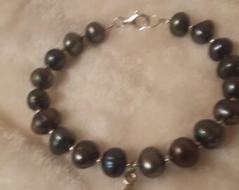 Grey Fresh Water Pearl Bracelet